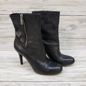 Coach Black Bethie Heeled Ankle Zippered Boots
